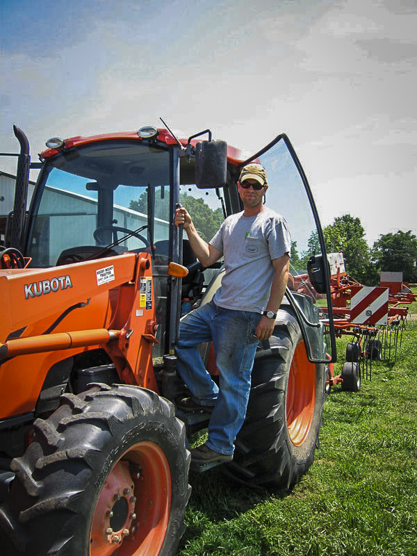 Image of Sean with Tractor